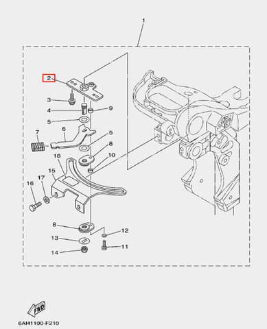Пластина для лодочного мотора F20 Sea-PRO (17-2)