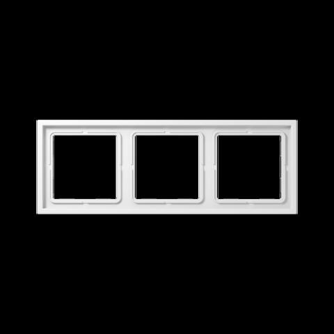 Рамка на 3 поста. Цвет Белый. JUNG LS ZERO. LSZ983BFWW