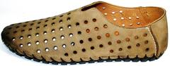 Мужские мокасины из натуральной кожи Luciano Bellini 107703 Beige.