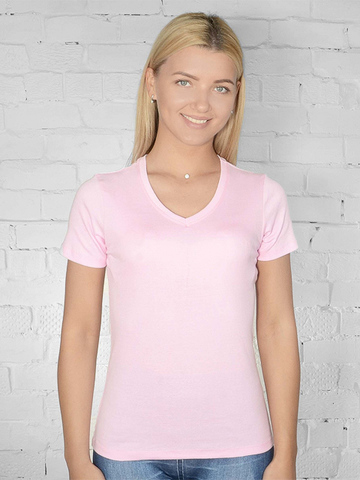 021-26 футболка женская, светло- розовая