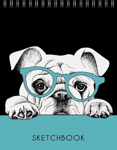 Скетчбук Задумчивый пес (графика)