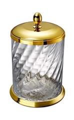 Ведро для мусора с крышкой Windisch 89802O Salomonic Spiral Gold