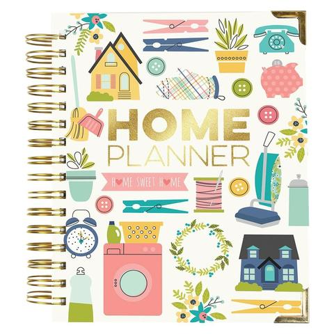 Ежедневник на пружине (НЕдатирован) -  Carpe Diem Spiral 17-Month Dated Weekly Planner - 18х22 см -Home