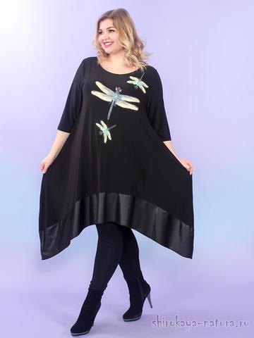 Платье-туника Игривые стрекозки