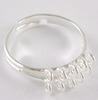 Основа для кольца с петельками (10 петелек) (цвет - серебро) (E156-S)