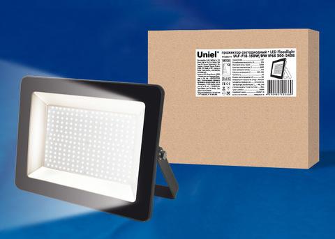 ULF-F18-150W/DW IP65 200-240В BLACK Прожектор светодиодный. Дневной свет (6500K). Корпус черный. TM Uniel.