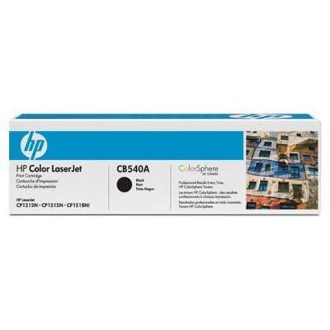 Картридж HP CB540A black - тонер-картридж для HP Color LaserJet CP1215, CP1515, CP1518, CM1312, CM1312nfi (черный, 2200 стр.)