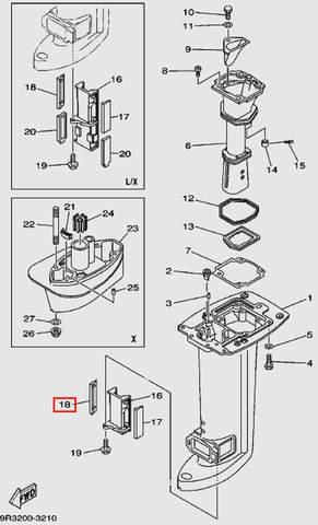 Держателя кожуха для лодочного мотора Т30 Sea-PRO (16-18)