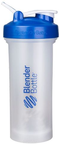 BlenderBottle Pro45 1330 мл Большой Шейкер с Шариком-Пружиной Синий-Прозрачный