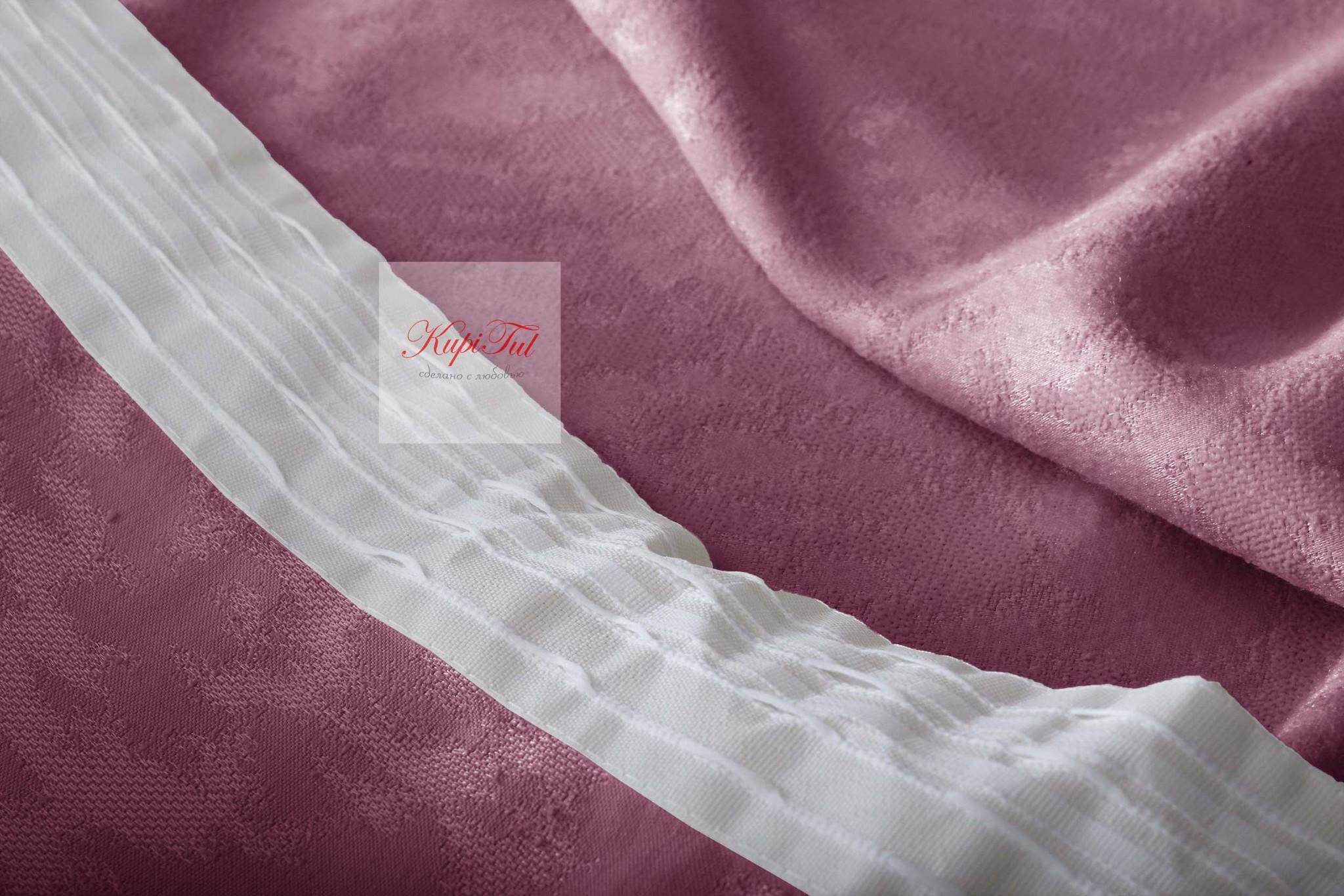 Комплект штор Луи (тёмно-розовый). Шторы из стриженного бархата.