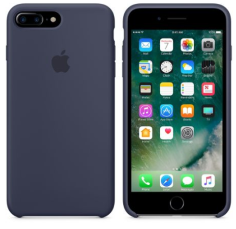 iPhone 7Plus/8Plus Silicone Case Темно Синий