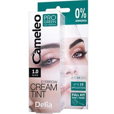 Delia Cosmetics Cameleo Pro Green Крем краска для бровей тон 1.0 черный