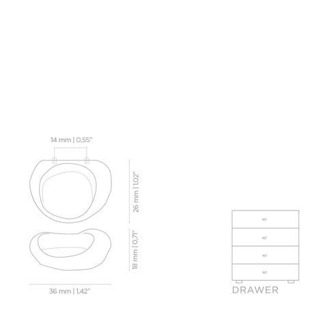Мебельная ручка PullCast ERGOS CM3011