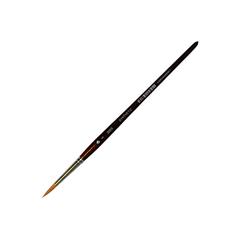 Кисть из синтетики круглая, короткая ручка,