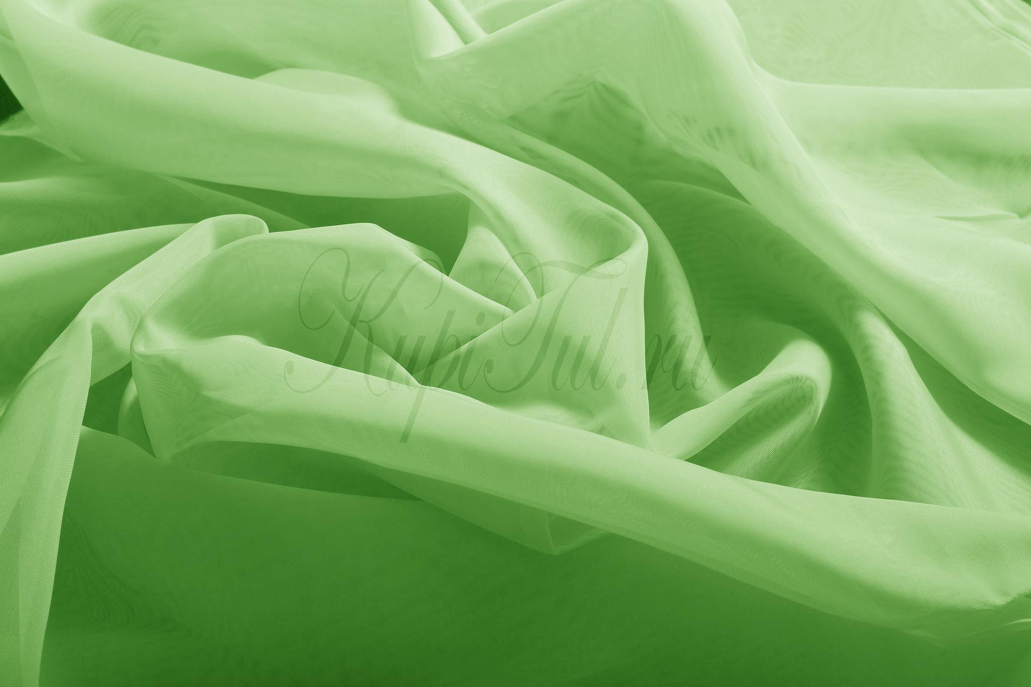 Длинные шторы. Тюль Basica-2 (микровуаль зеленый)
