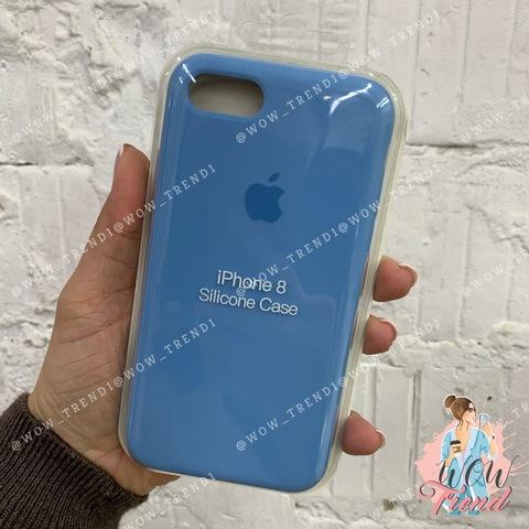Чехол iPhone 7/8 Silicone Case /cornflower/ синие сумерки 1:1