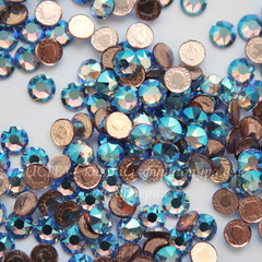 2078 Стразы Сваровски горячей фиксации Light Sapphire Shimmer ss16 (3,8-4 мм), 10 штук