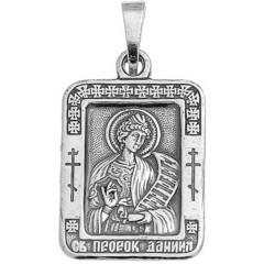 Святой Даниил. Нательная икона посеребренная.
