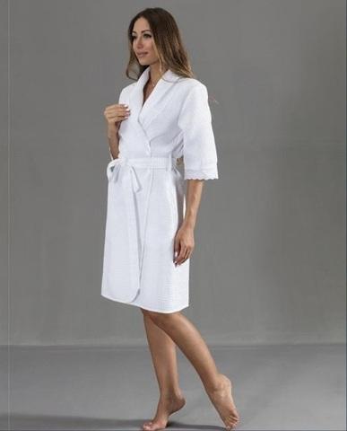 ROCHELLALONG - РОКЕЛЛА ДЛИННЫЙ женский вафельный халат Maison Dor Турция
