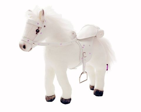 Gotz. Белая лошадь с седлом и уздечкой, со звуком