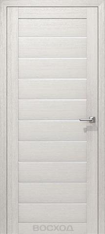 Дверь Восход Альфа, стекло сатин, цвет лиственница снежная, остекленная
