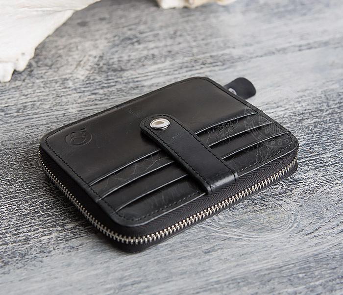 WL289-1 Оригинальный кошелек на молнии для карт, купюр и монет фото 03