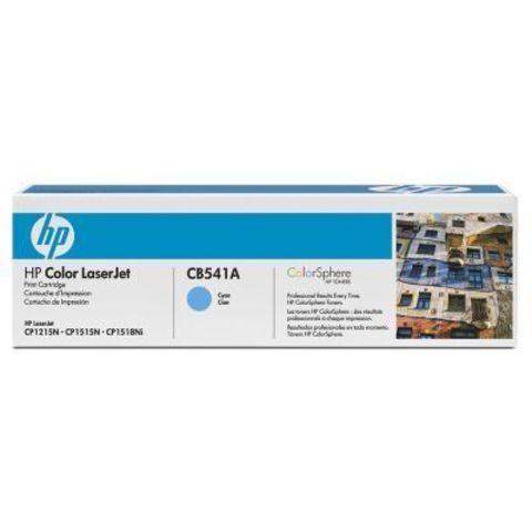 Картридж HP CB541A cyan - тонер-картридж для HP Color LaserJet CP1215, CP1515, CP1518, CM1312, CM1312nfi (голубой, 1400 стр.)