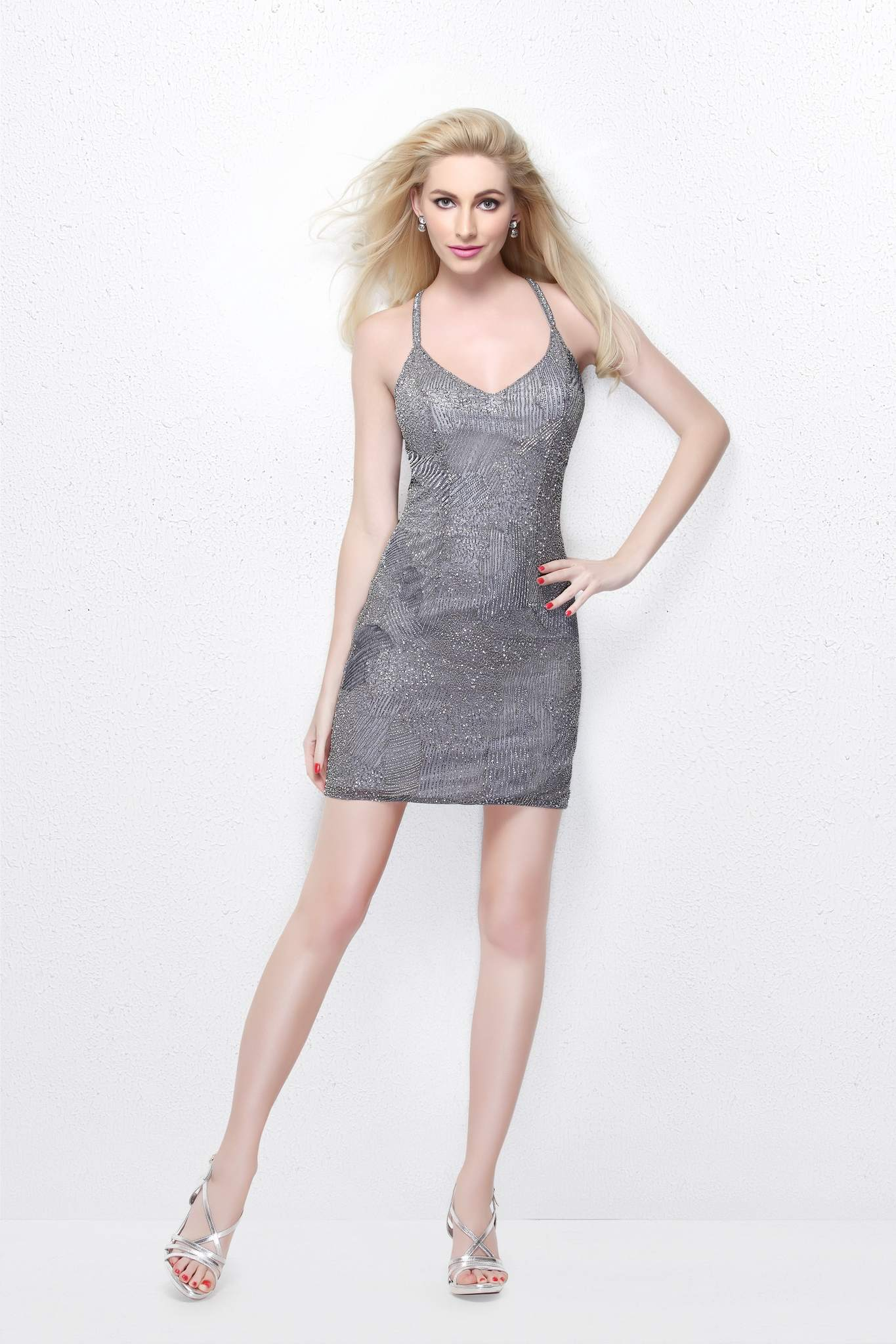 Короткое платье Bella 16620