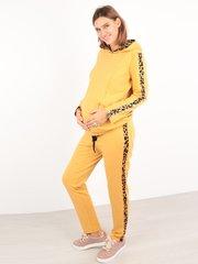 Евромама. Костюм для беременных и кормящих брюки и свитшот, желтый лео