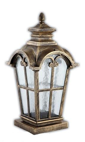 Светильник садово-парковый, 100W 220V E27 черное золото , IP44 , PL5105 (Feron)
