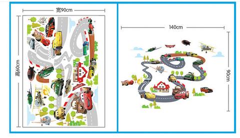 Тачки 3D наклейка Гоночная трасса