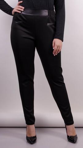 Светлана. Женские повседневные брюки больших размеров. Черный. fa28a5f5286a1