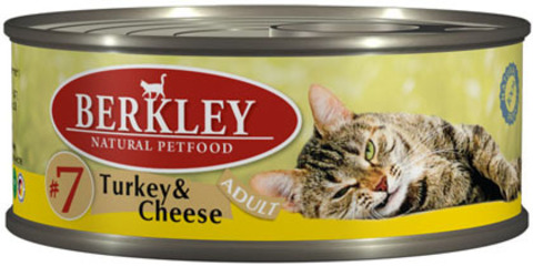 Консервы Berkley №7 Индейка с сыром для кошек