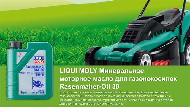 Liqui Moly Rasenmaher Oil 30 Минеральное моторное масло для газонокосилок