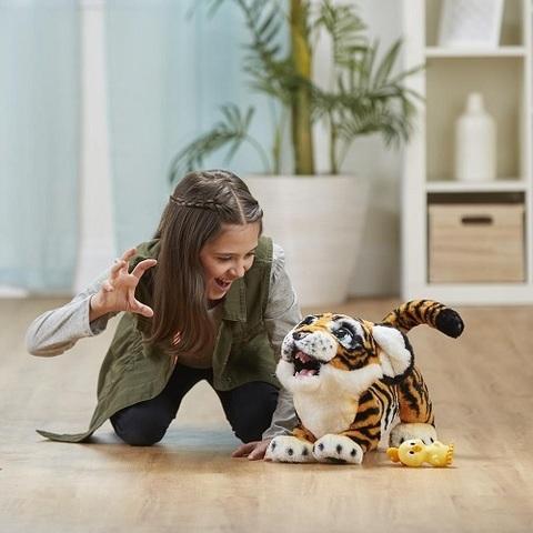 Рычащий Тигренок интерактивная игрушка Белый Оранжевый
