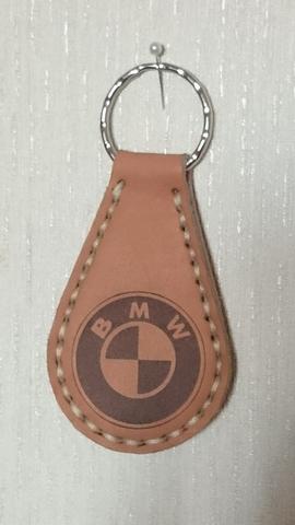 Автомобильный брелок из натуральной кожи с логотипом