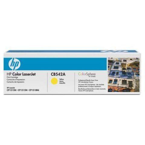 Картридж HP CB542A yellow - тонер-картридж для HP Color LaserJet CP1215, CP1515, CP1518, CM1312, CM1312nfi (желтый, 1400 стр.)