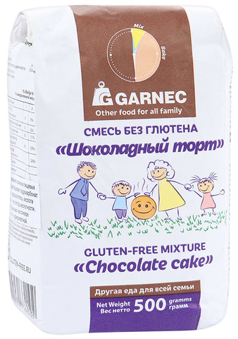 Garnec смесь Шоколадный торт без глютена 500 гр