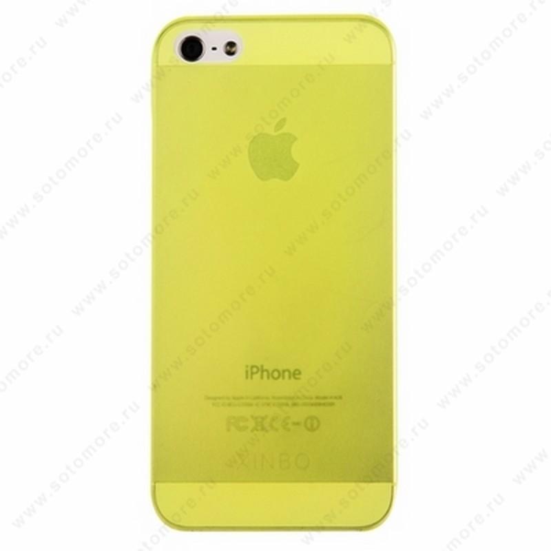Накладка XINBO супертонкая для iPhone SE/ 5s/ 5C/ 5 лимонная