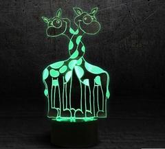 3D светильник Влюбленные жирафики — 3D light Lovers zhirafiki