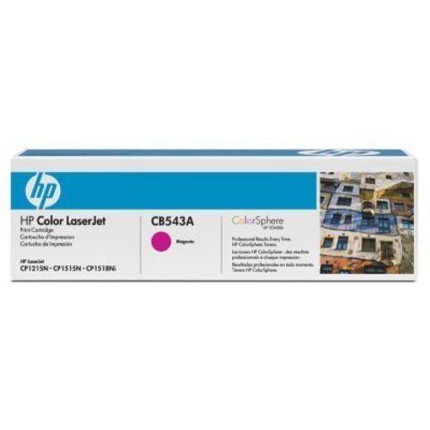 Картридж HP CB543A magenta - тонер-картридж для HP Color LaserJet CP1215, CP1515, CP1518, CM1312, CM1312nfi (пурпурный, 1400 стр.)