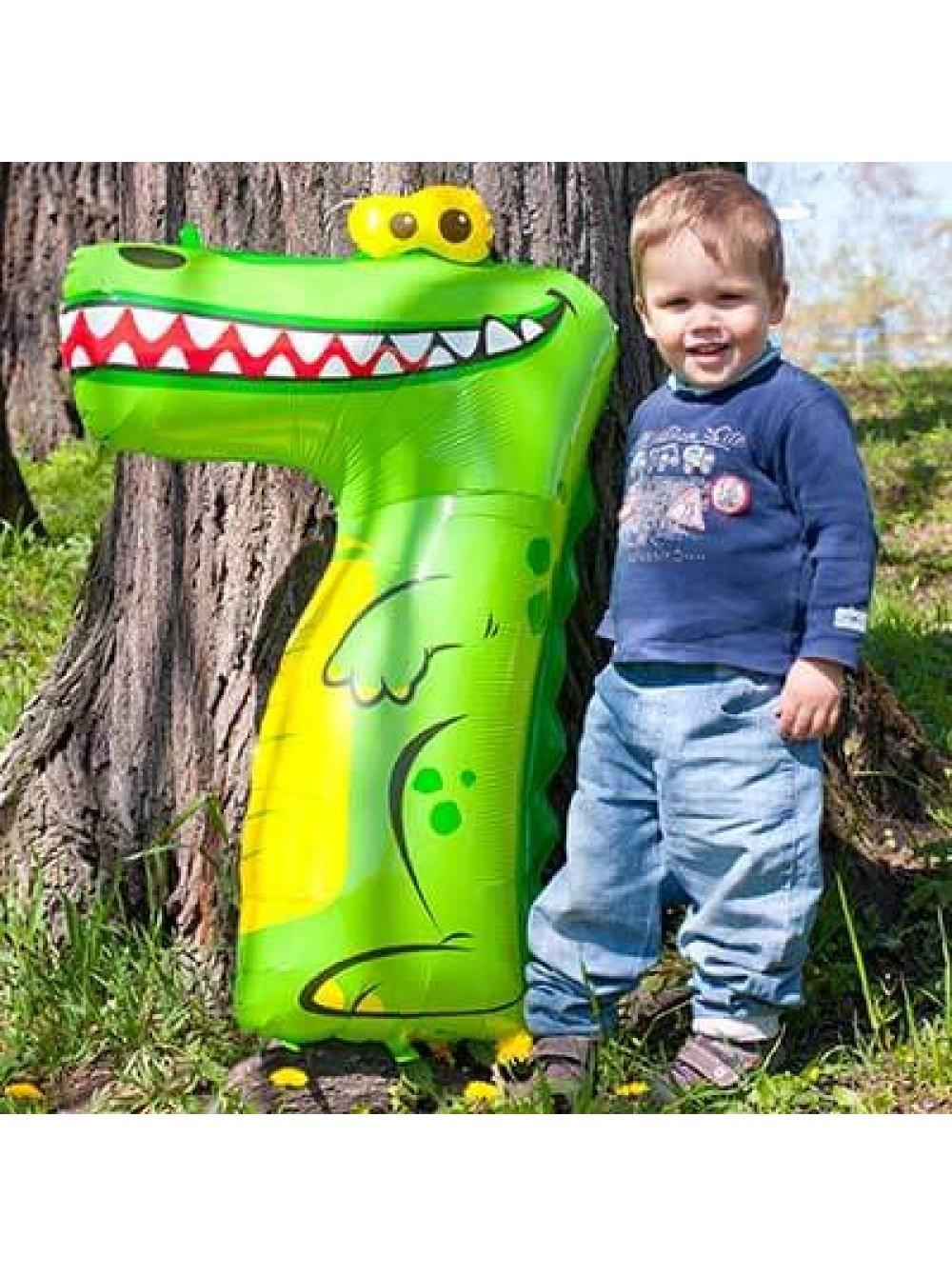 Шар цифра 7 крокодил (фото 2)