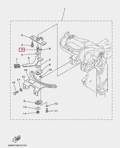 Вал стопора для лодочного мотора F20 Sea-PRO (17-4)