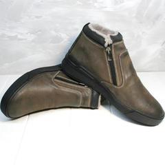 Мужская зимняя обувь с натуральным мехом Rifellini Rovigo 046 Brown Black