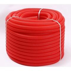 Гофрированная труба Uni-Fitt 25 красная (для труб 16) 50 м.