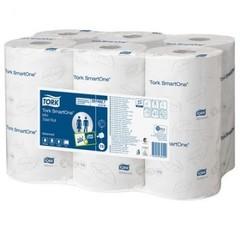 Бумага туалетная д/дисп Tork SmartOne T9 2сл бел111м 620л 12рул/уп 472193