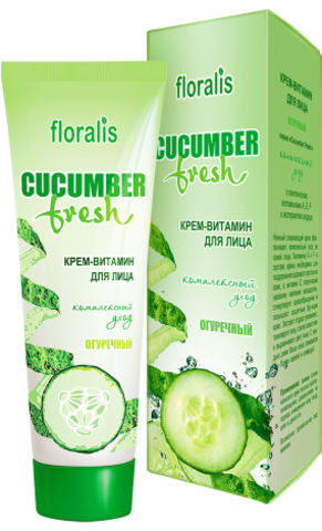 Floralis Cucumber Fresh Крем-витамин для лица Огуречный 50г
