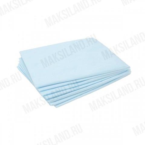Простыни одноразовые 70*80, SMS голубой пл.20 упак.20 штук