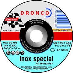 Абразивный отрезной диск Dronco AS 46 INOX 125х1,6