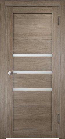 Дверь Eldorf Мюнхен 01, стекло Сатинато, цвет дымчатый дуб, остекленная